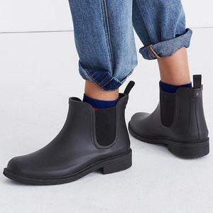 J. CREW Chelsea rainboots in matte black